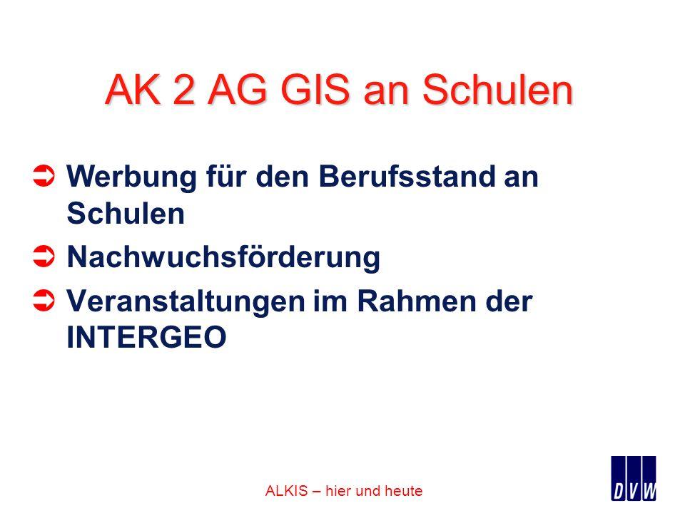 AK 2 AG GIS an Schulen Werbung für den Berufsstand an Schulen