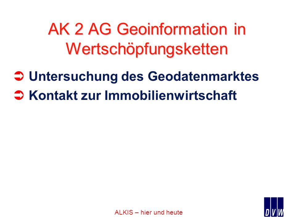 AK 2 AG Geoinformation in Wertschöpfungsketten