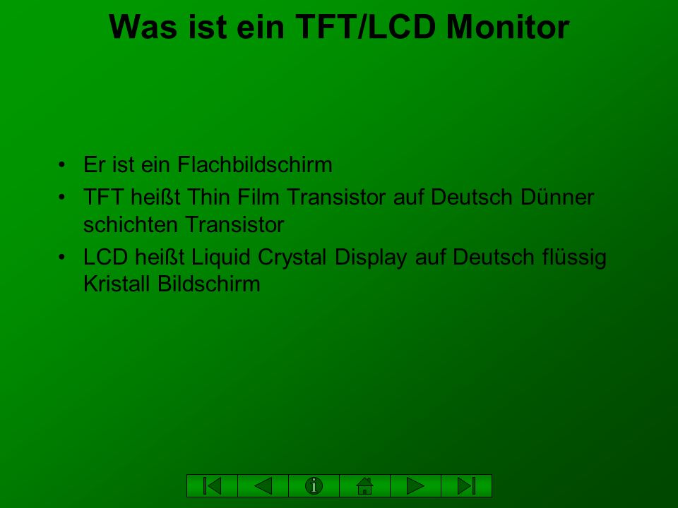 Was ist ein TFT/LCD Monitor