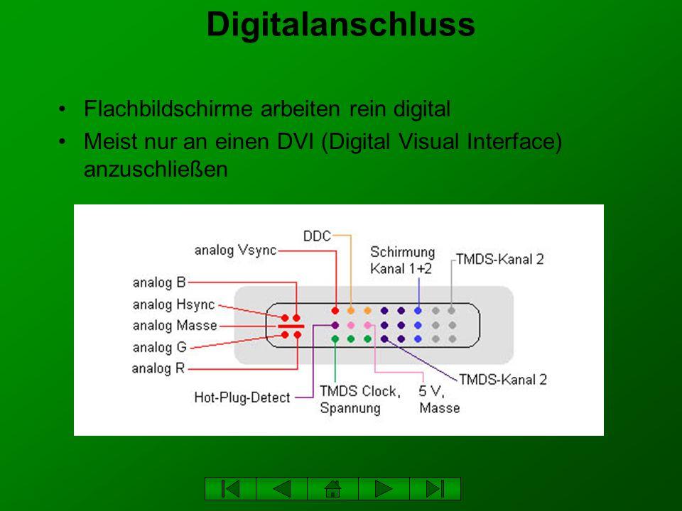 Digitalanschluss Flachbildschirme arbeiten rein digital