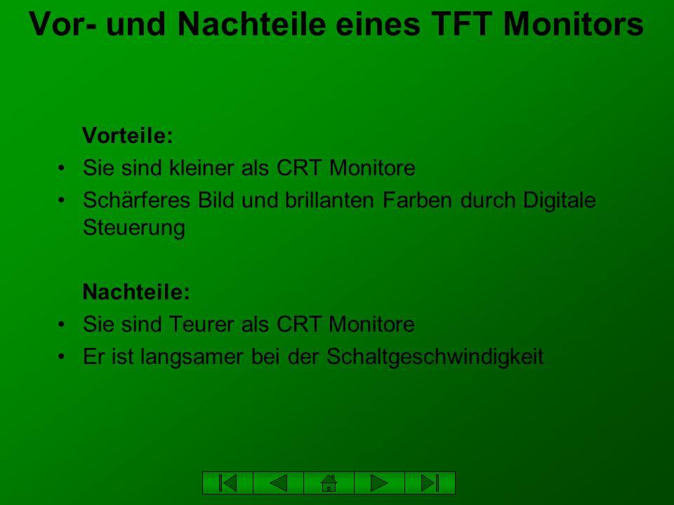 Vor- und Nachteile eines TFT Monitors