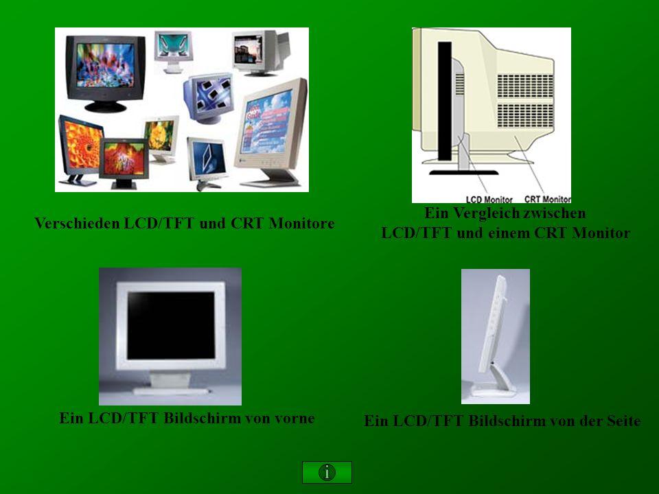 Verschieden LCD/TFT und CRT Monitore Ein Vergleich zwischen