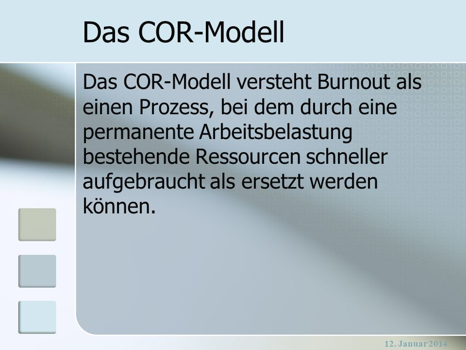 Das COR-Modell