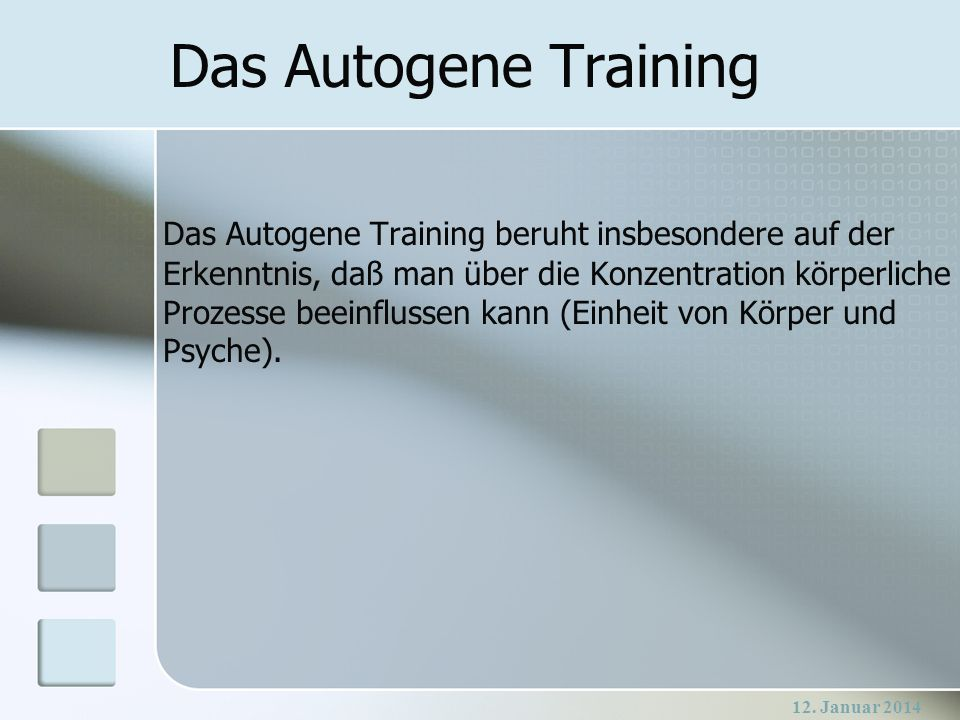 Das Autogene Training