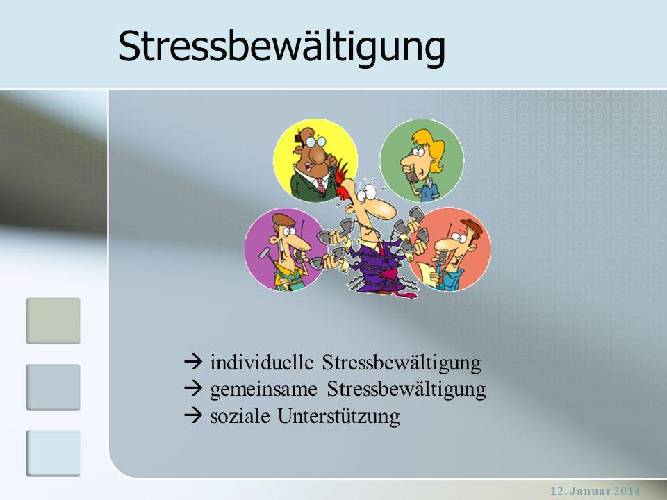 Stressbewältigung  individuelle Stressbewältigung