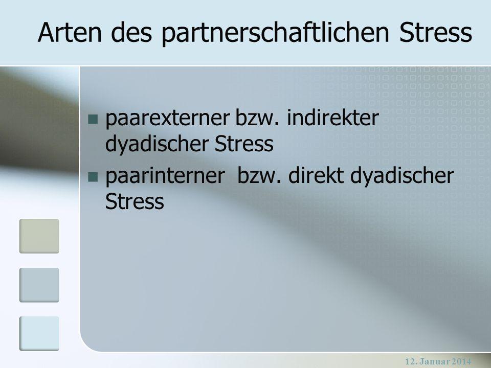 Arten des partnerschaftlichen Stress