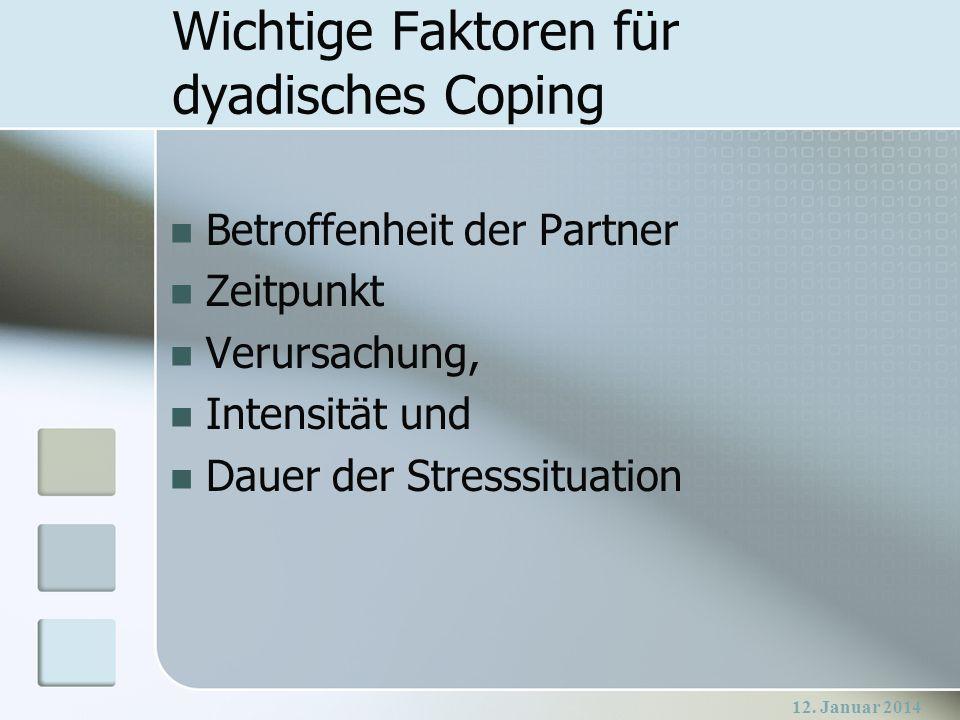 Wichtige Faktoren für dyadisches Coping