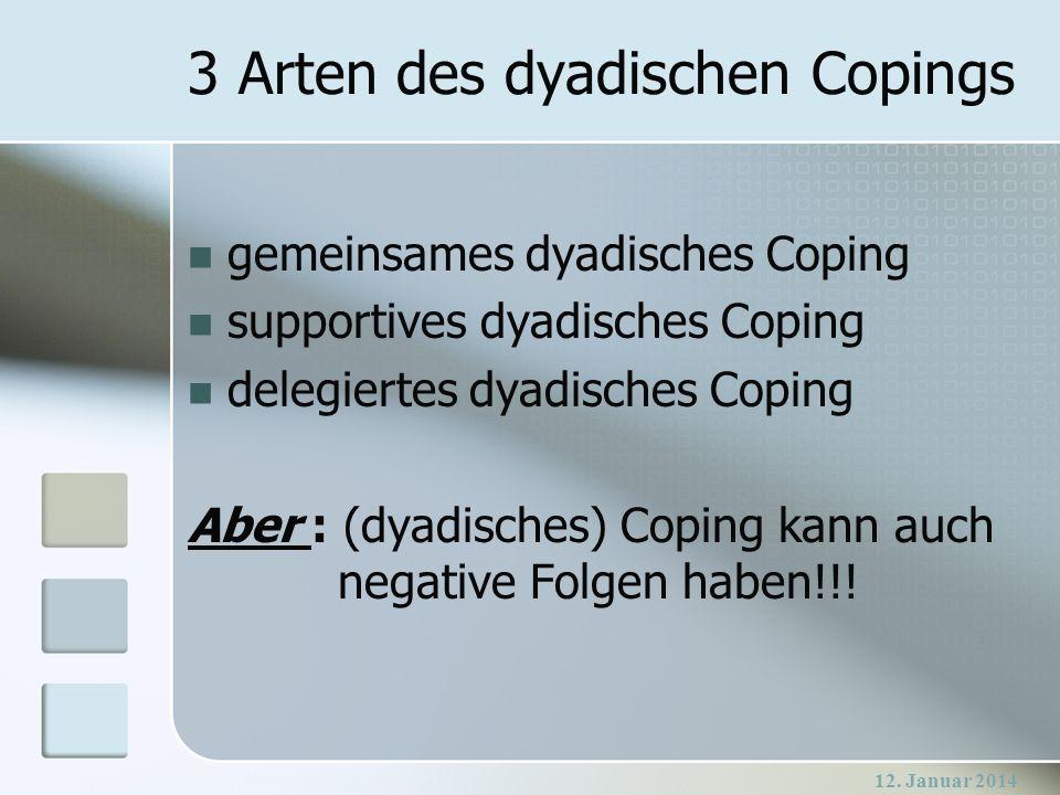 3 Arten des dyadischen Copings
