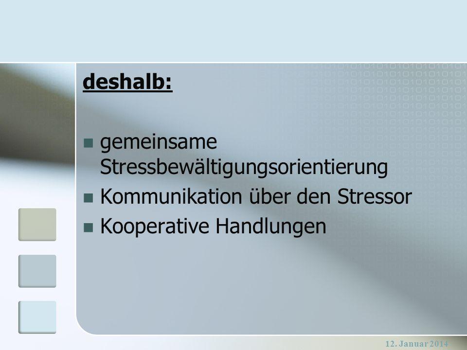 gemeinsame Stressbewältigungsorientierung