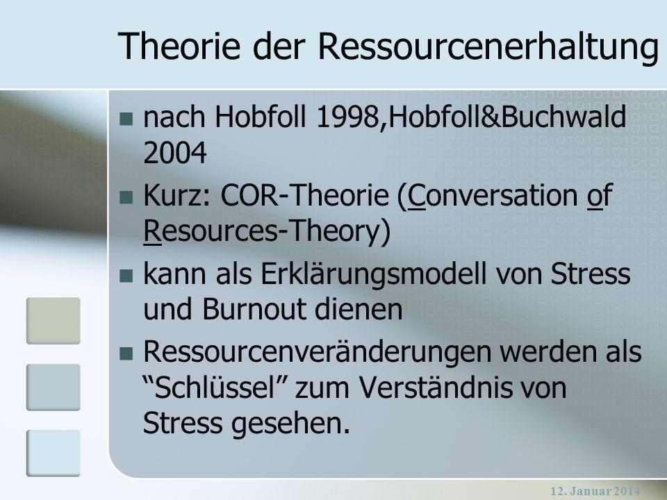 Theorie der Ressourcenerhaltung