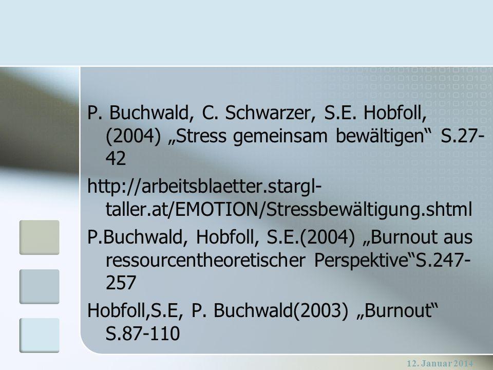 "Hobfoll,S.E, P. Buchwald(2003) ""Burnout S.87-110"