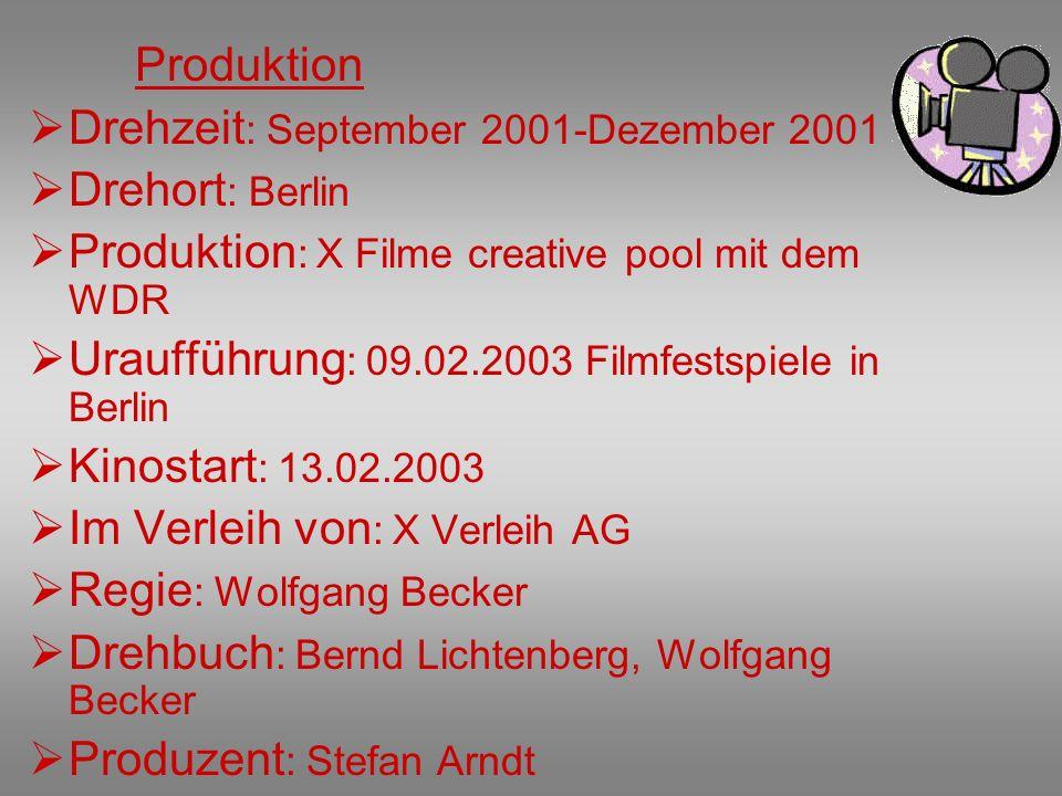 Drehzeit: September 2001-Dezember 2001 Drehort: Berlin