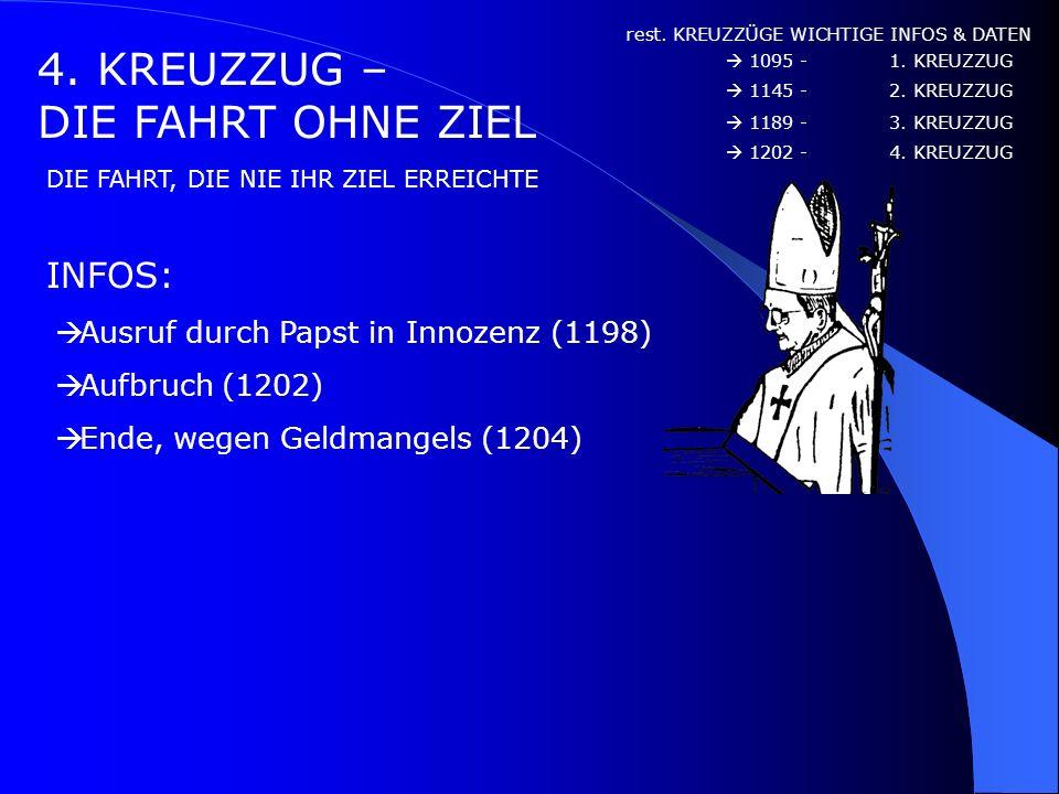 4. KREUZZUG – DIE FAHRT OHNE ZIEL