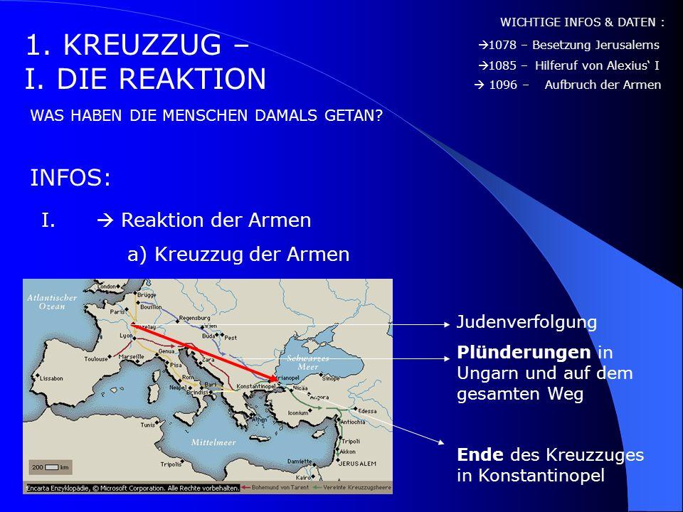 1. KREUZZUG – I. DIE REAKTION