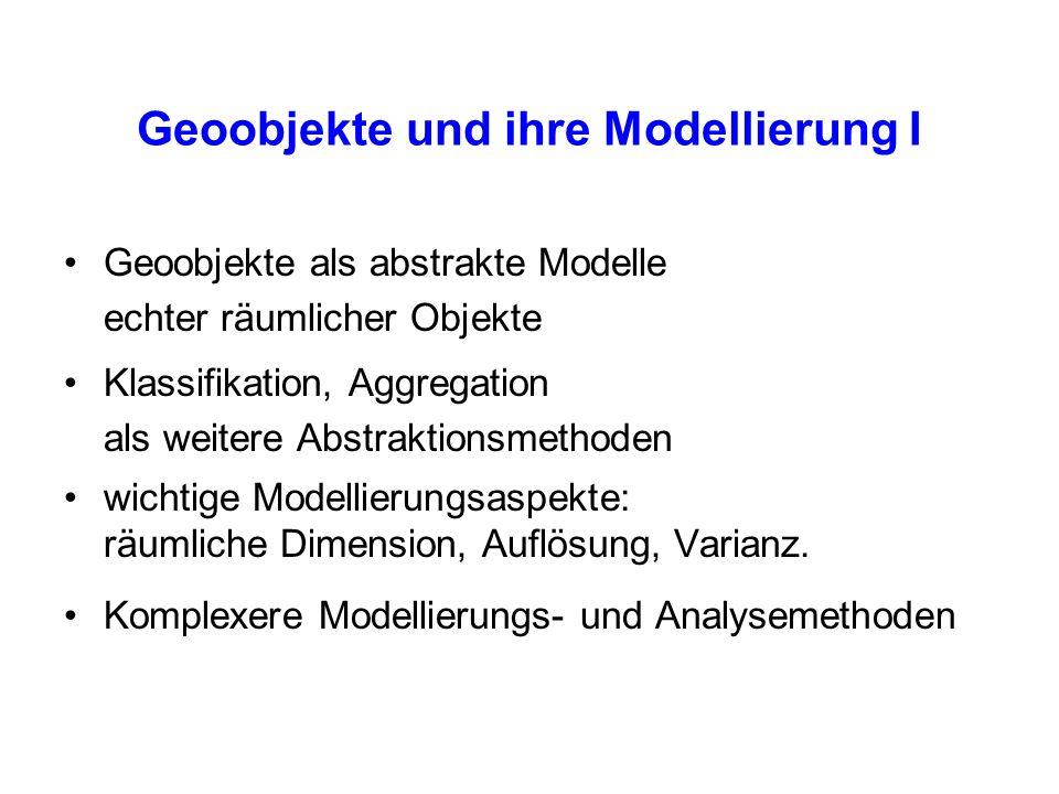 Geoobjekte und ihre Modellierung I