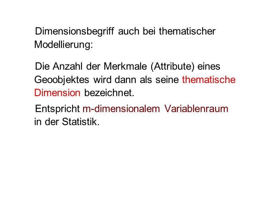 Dimensionsbegriff auch bei thematischer Modellierung: