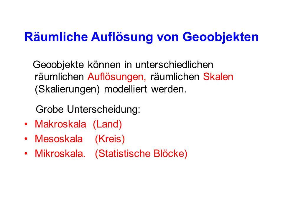 Räumliche Auflösung von Geoobjekten