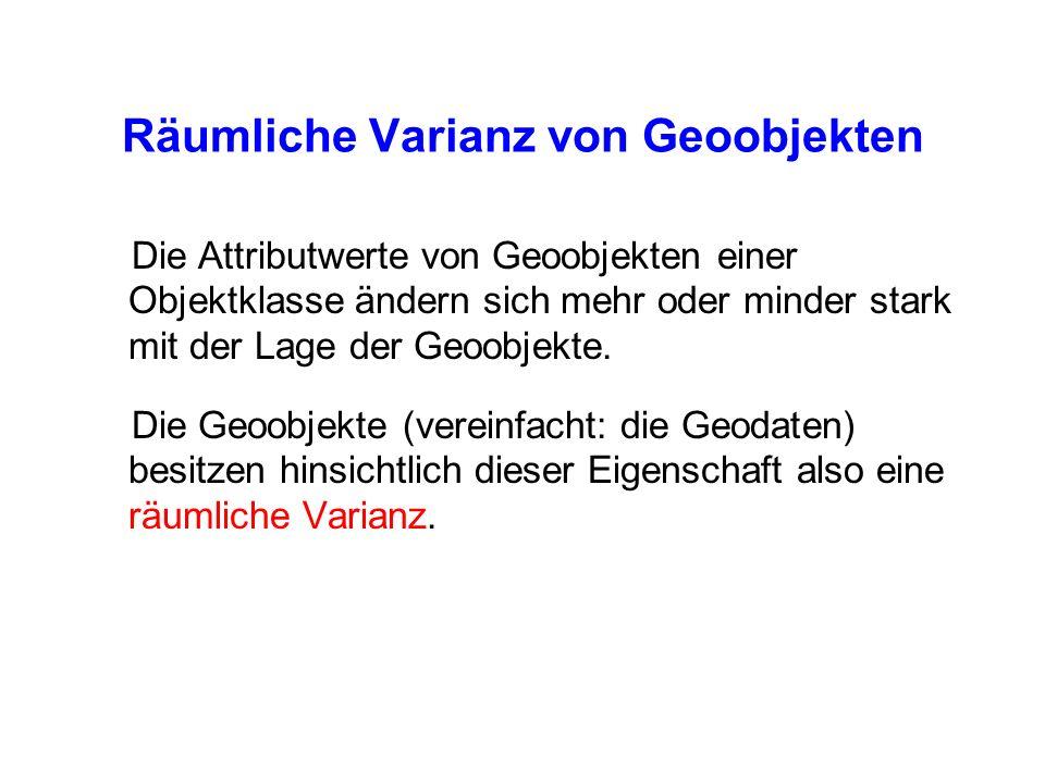 Räumliche Varianz von Geoobjekten