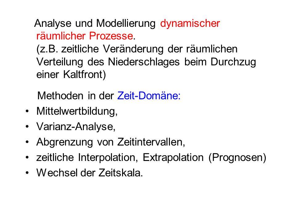 Analyse und Modellierung dynamischer räumlicher Prozesse. (z. B