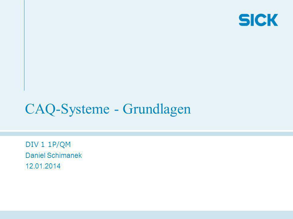 CAQ-Systeme - Grundlagen