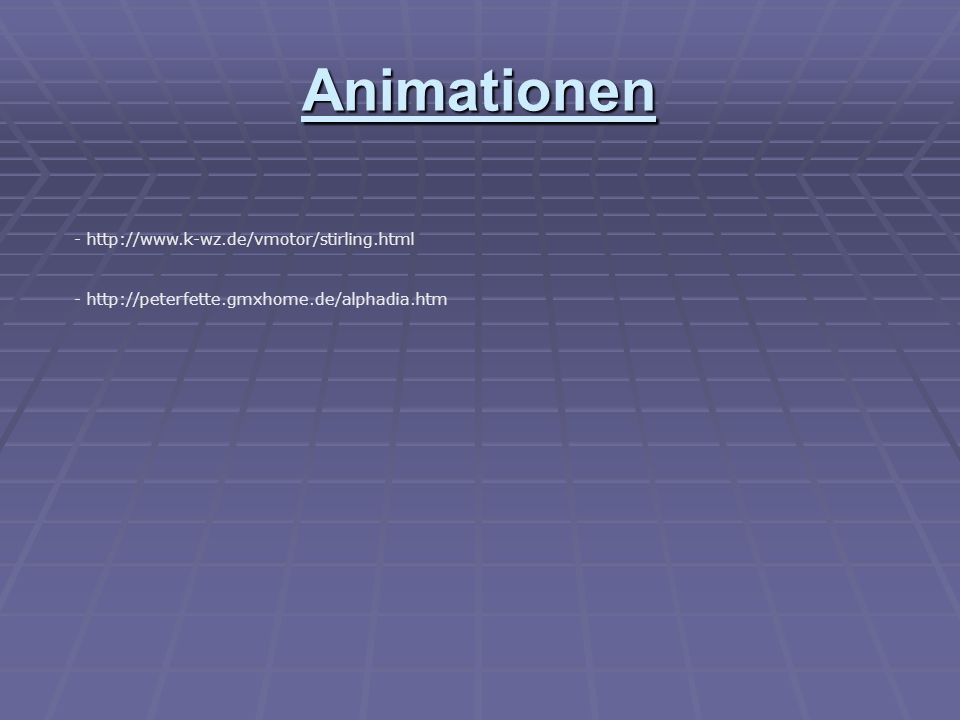 Animationen - http://www.k-wz.de/vmotor/stirling.html