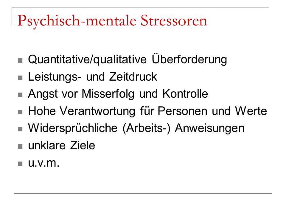 Psychisch-mentale Stressoren