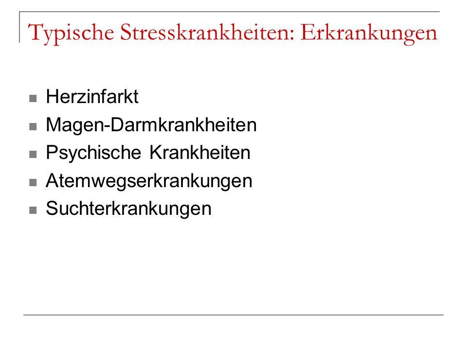 Typische Stresskrankheiten: Erkrankungen