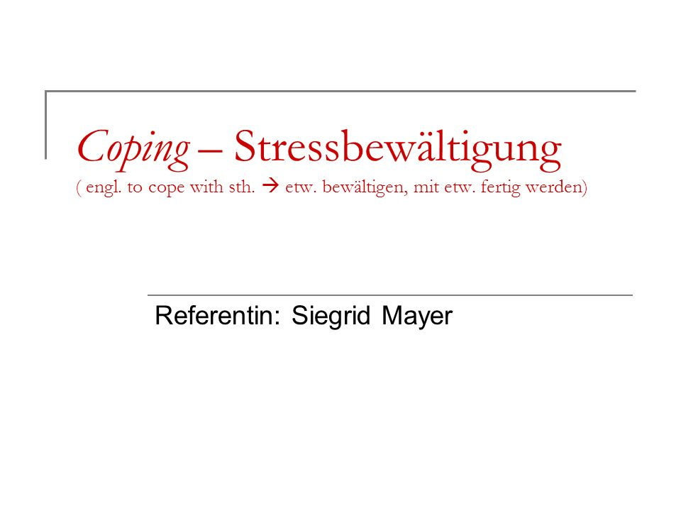 Referentin: Siegrid Mayer