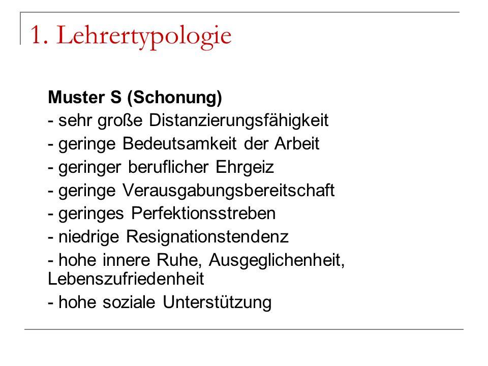 1. Lehrertypologie Muster S (Schonung)
