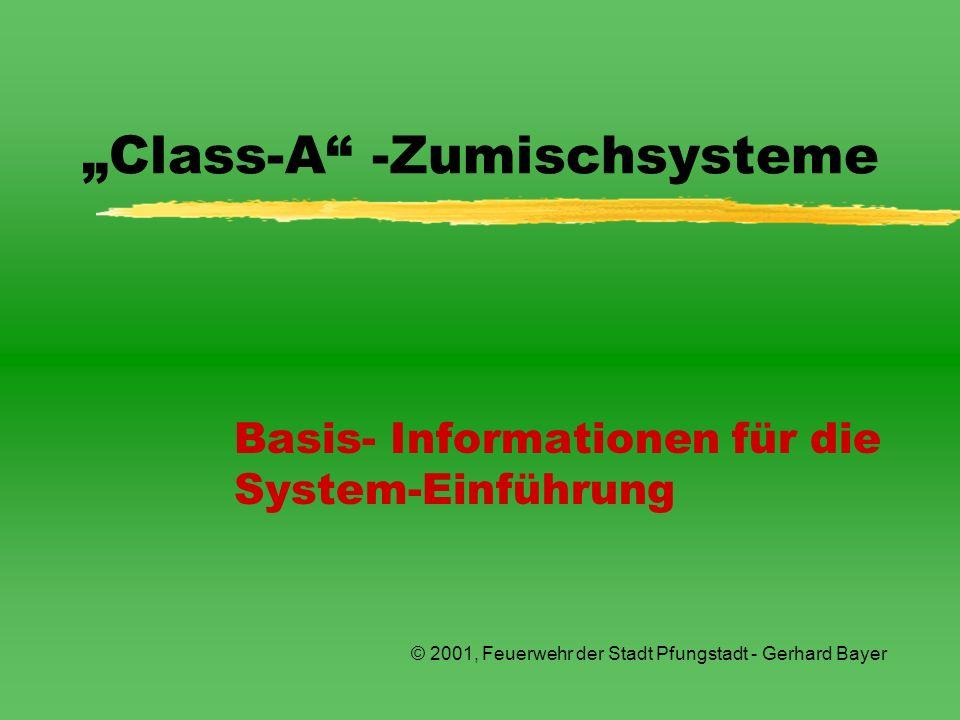 """Class-A -Zumischsysteme"