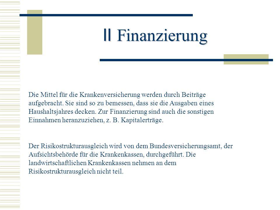 II Finanzierung