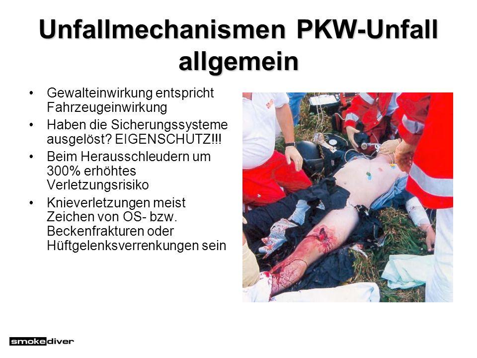 Unfallmechanismen PKW-Unfall allgemein