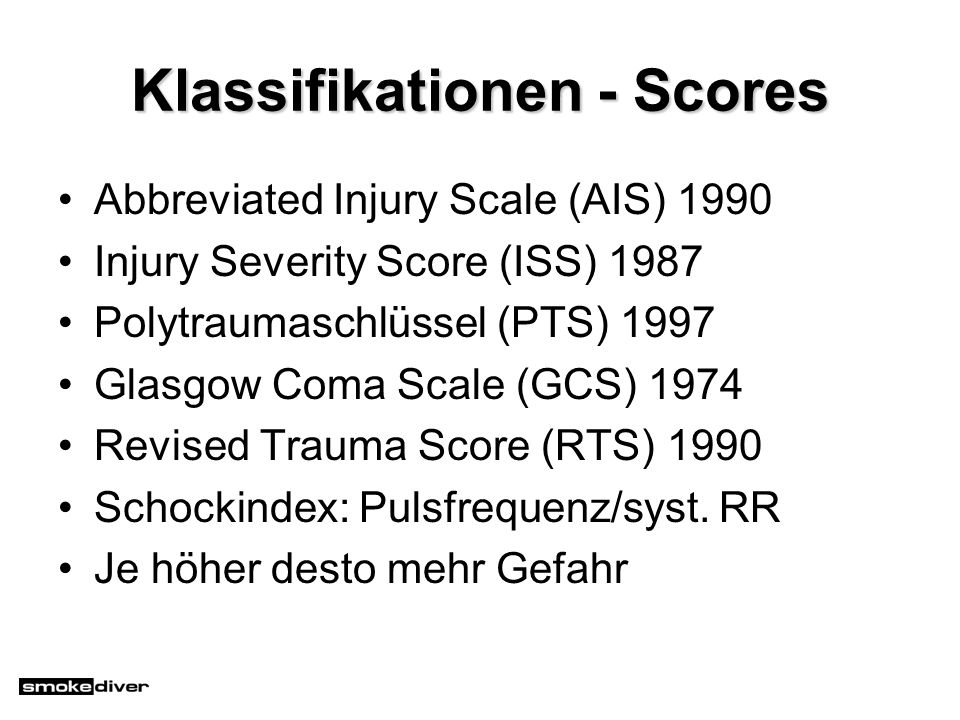 Klassifikationen - Scores