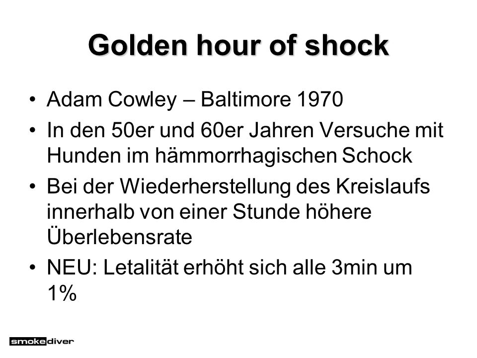 Golden hour of shock Adam Cowley – Baltimore 1970