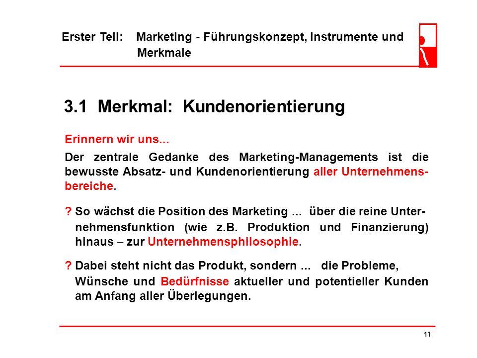 3.1 Merkmal: Kundenorientierung