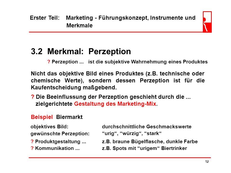 Erster Teil: Marketing - Führungskonzept, Instrumente und