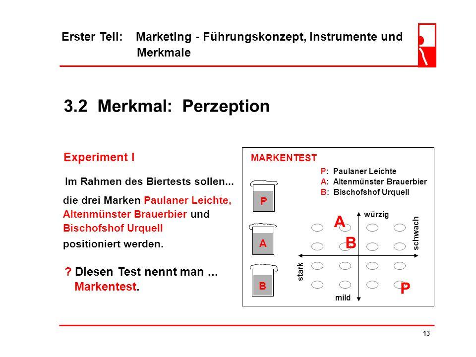 3.2 Merkmal: Perzeption A B P