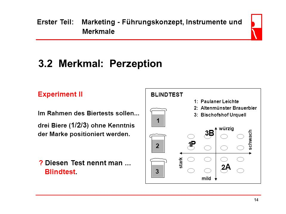 3.2 Merkmal: Perzeption B P A