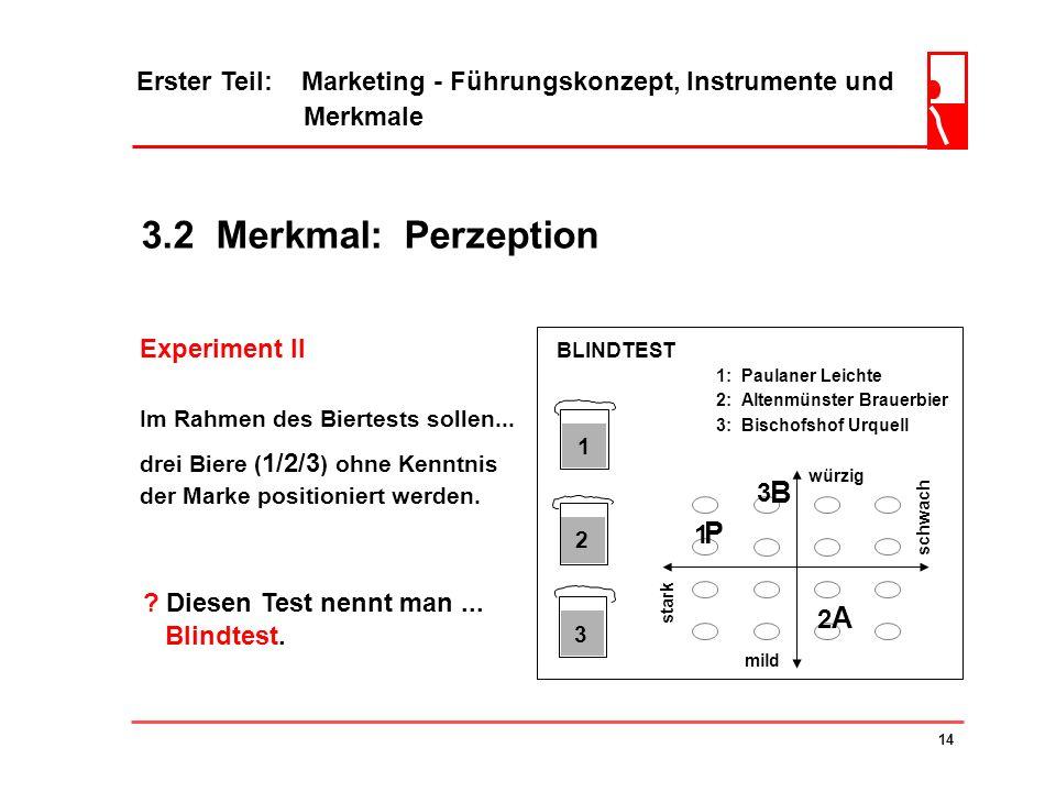 3.2 Merkmal: Perzeption B P A