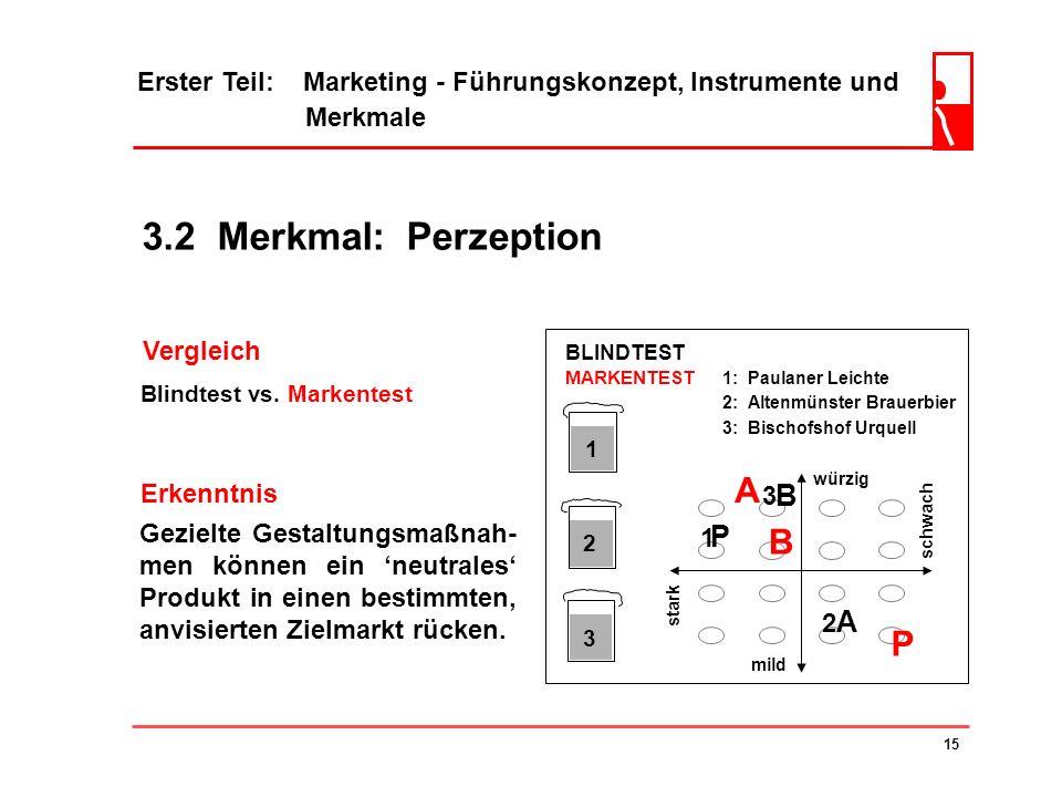 3.2 Merkmal: Perzeption A B P B P A