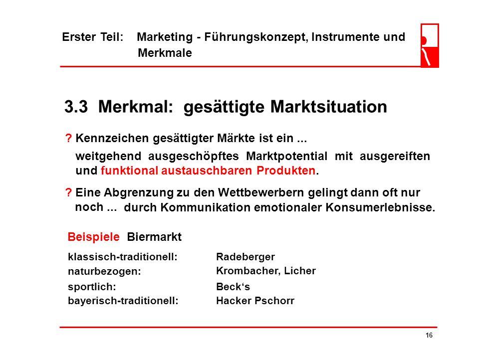 3.3 Merkmal: gesättigte Marktsituation