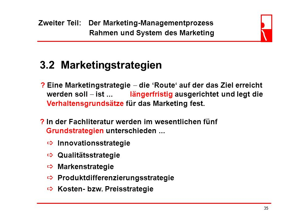 3.2 Marketingstrategien Zweiter Teil: Der Marketing-Managementprozess