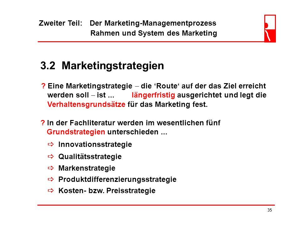 3.2 Marketingstrategien Zweiter Teil: Der Marketing-Managementprozess