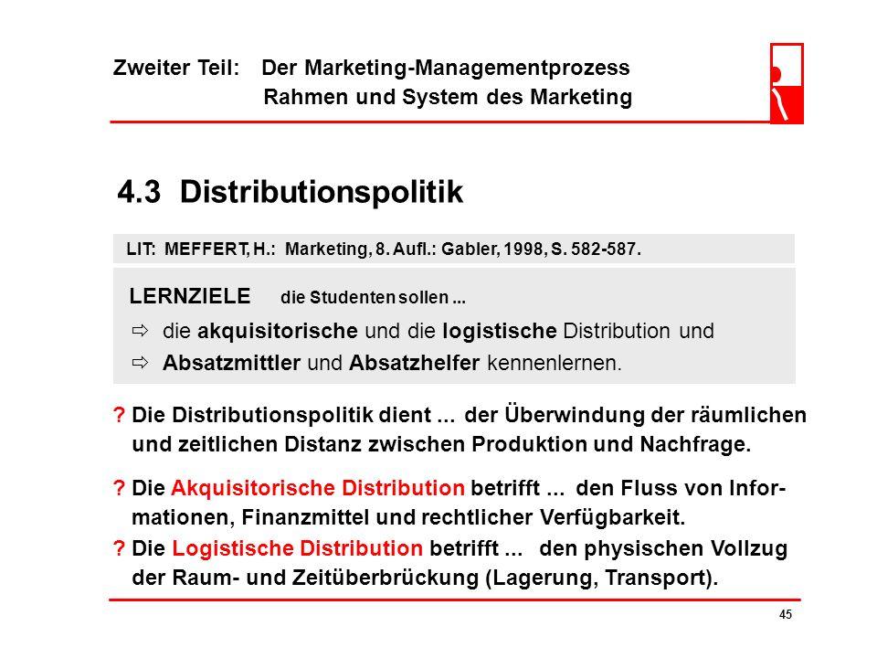 4.3 Distributionspolitik