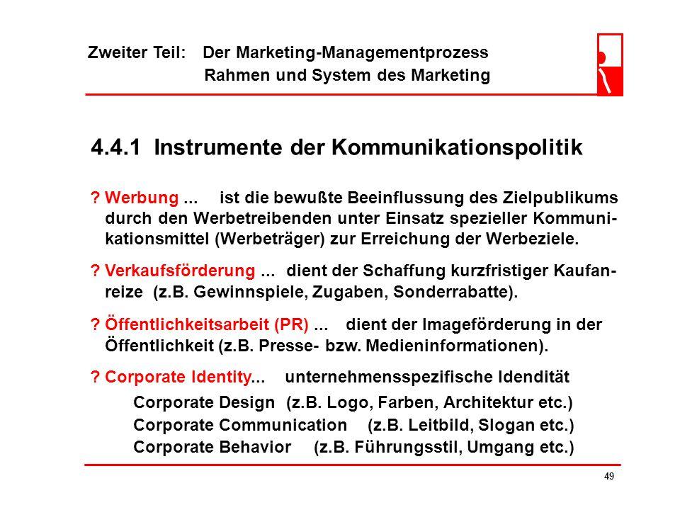 4.4.1 Instrumente der Kommunikationspolitik