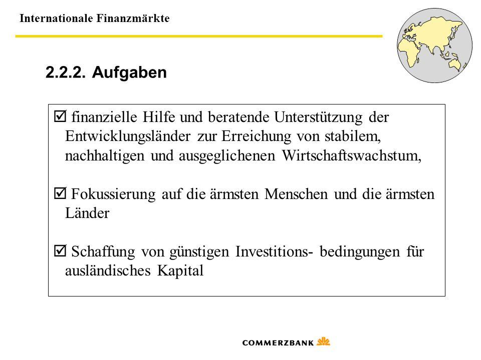 2.2.2. Aufgaben  finanzielle Hilfe und beratende Unterstützung der