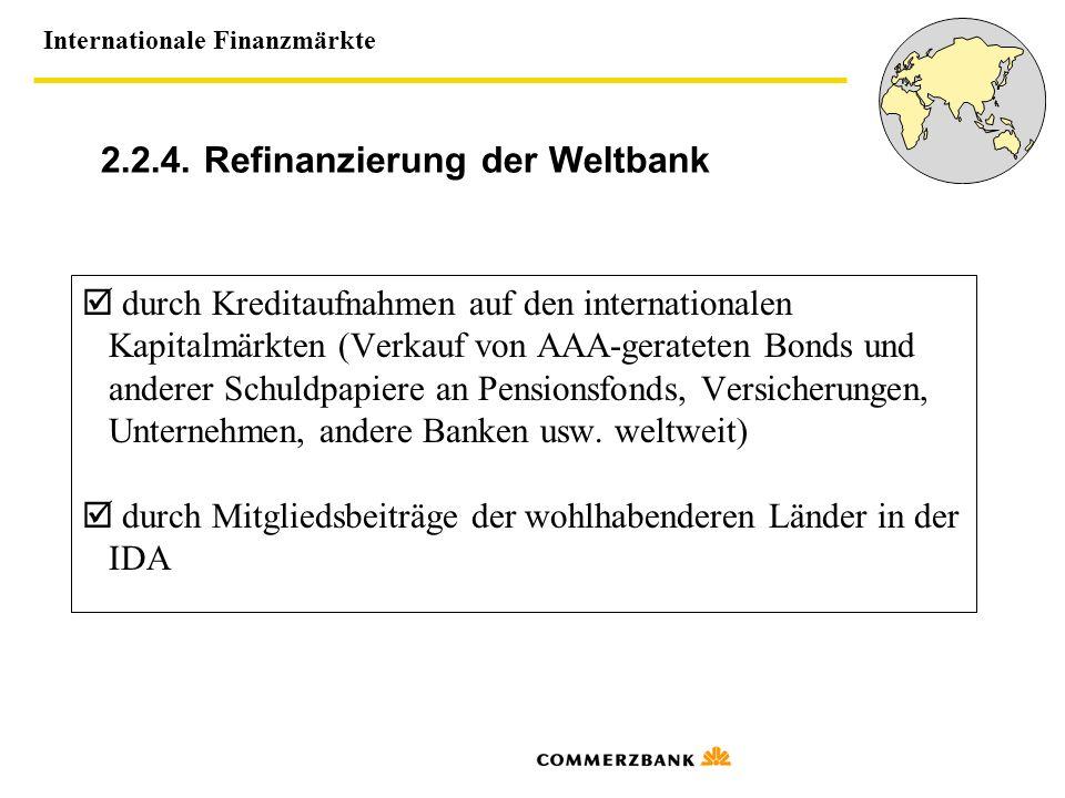 2.2.4. Refinanzierung der Weltbank