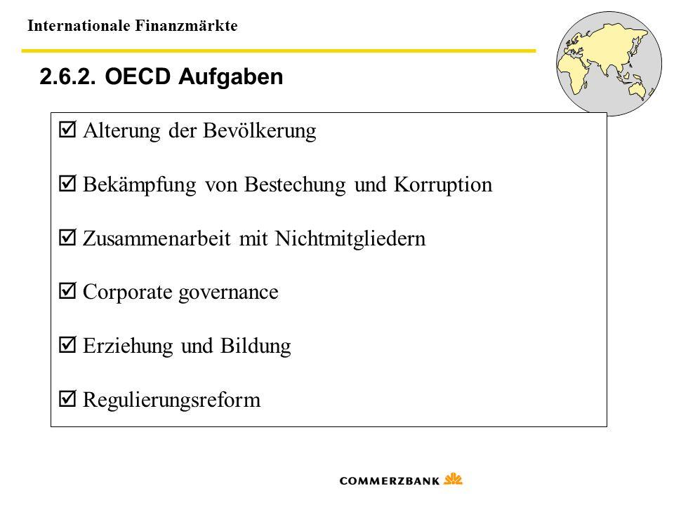 2.6.2. OECD Aufgaben  Alterung der Bevölkerung
