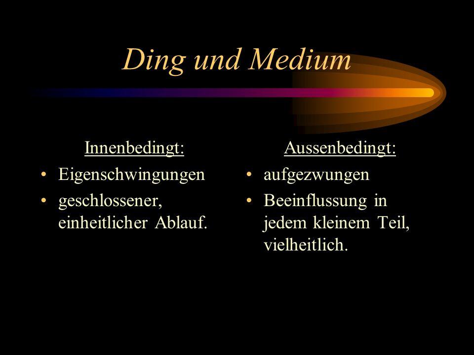 Ding und Medium Innenbedingt: Eigenschwingungen
