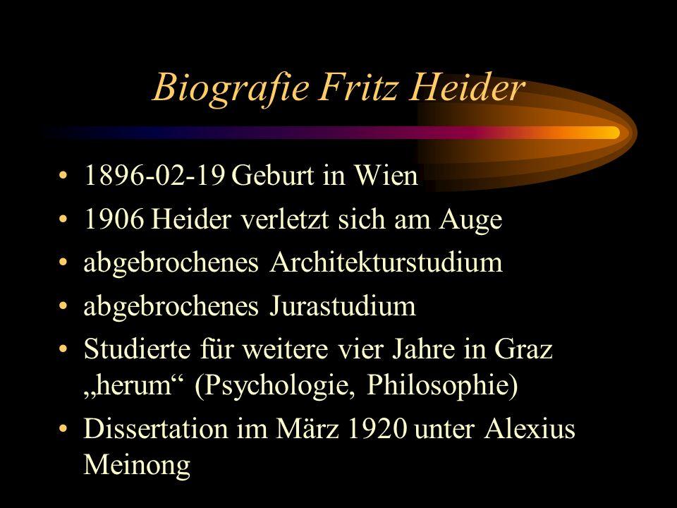 Biografie Fritz Heider